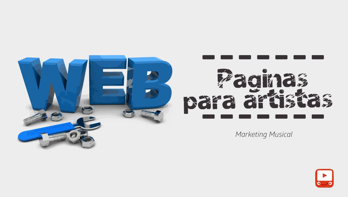 La importancia de una pagina web para un artista